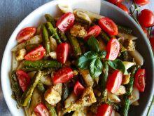 Makaron z kurczakiem i szparagami