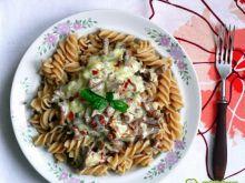 Makaron z kurkami i gorgonzolą