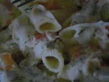 Makaron z łososiem