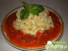 Makaron z sosem pomidorowo-ziołowym