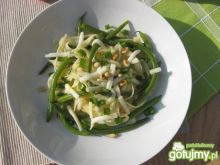 Makaron z zieloną fasolką szparagową