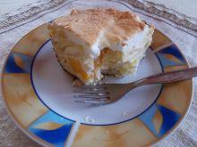 Makaron zapiekany z serem i brzoskwinią