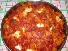 Makaron zapiekany/Pasta forno con carne.