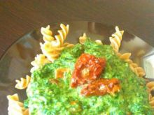 Makaron ze szpinakiem i pomidorami 3