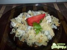 Makaron ze szpinakiem i sosem tzatziki