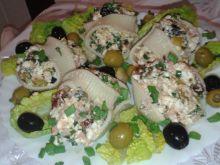 Makaronowe muszle nadziewane serem feta