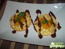 Makaronowe serniczki z białą czekoladą