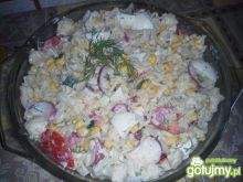 Makaronowo-kalafiorowa sałatka