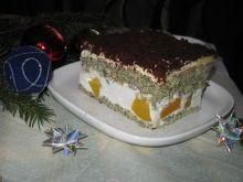 Makowe ciasto z brzoskwiniami