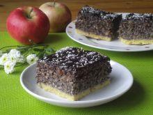 Makowiec bakaliowy z jabłkami