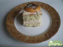Makowo- kokosowe ciasto z biszkoptami