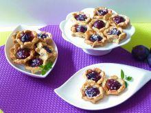 Makowo-migdałowe ciasteczka ze śliwkami