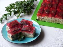 Makowo-orzechowe ciasto z delicjami