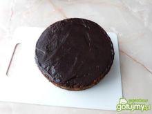 Makowy torcik w polewie czekoladowej