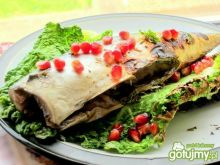 Makrela grillowana na liściach