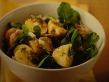 Makrela z salatka ziemniaczana