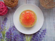 Małe serniczki z kwiatami 3d w galaretce