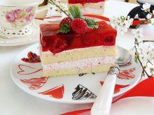 Malinowe ciasto z serkiem mascarpone