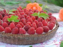 Malinowo –budyniowa tarta