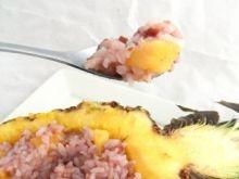 Malinowy ryż z ananasem