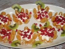 Mandarynkowe kwiaty
