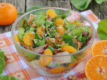 Mandarynkowo-szpinakowa sałatka