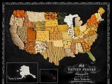 Niezwykłe mapy z jedzenia
