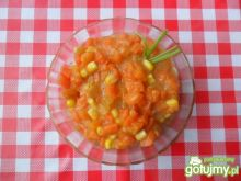 Marchewka z kukurydzą