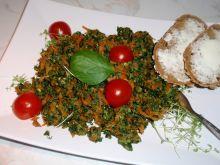Marchewka ze szpinakiem i jajkiem