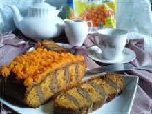 Marchewkowe ciasto z masą choco i konfiturą march
