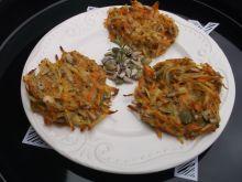 Marchewkowo - ziemniaczane placki z piekarnika