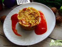 Marchewkowy ryż z fasolką