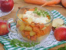 Marchwiowo-jabłkowy deser