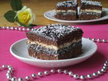 Markos- ciasto kokosowo-makowe z powidłami
