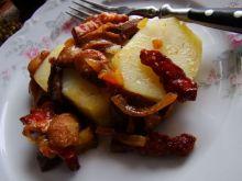 Maślaczki z boczkiem i ziemniakami
