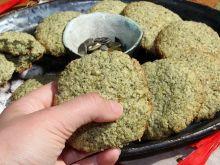 Maślane ciasteczka z kleiku ryżowego i pestek dyni