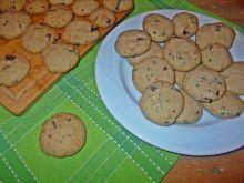 Maślane ciasteczka z mielonym lnem i czekoladą