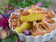 Maślane ciasto śliwkowe