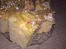 Maślankowe ciasto z rabarbarem