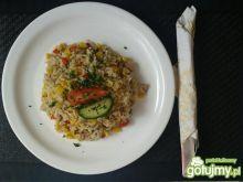 Maślano-ziołowy kolorowy ryż ;)
