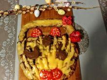 Mazurek kajmakowy z domową konfiturą