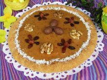 Mazurek kokosowo- orzechowy