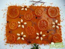 Mazurek pomarańczowo-mandarynkowy
