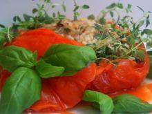 Mega pomidor faszerowany + sos z parowara