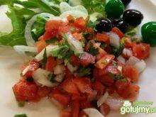 Meksykańska sałatka z pomidorów.