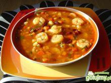 Meksykańska Zupa z Krewetkami i Fasolą