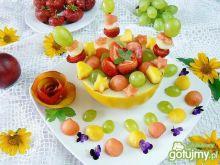 Melonowa miseczka owocowa