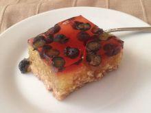 Melonowe ciasto z galaretką