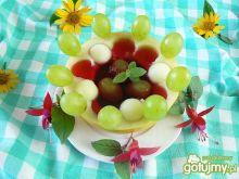 Melonowy deser z galaretką