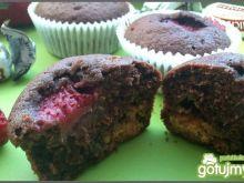 Michałkowe muffiny z truskawką
